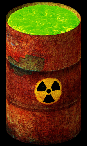 Where is hazardous waste disposed of?